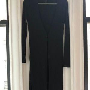 BCBG MaxAzria -- elegant long black sweater